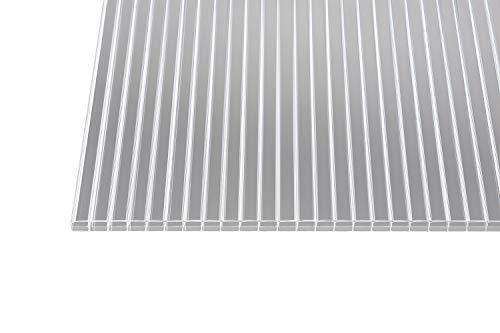 polycarbonat stegplatten hohlkammerplatten klar 16 mm 1200 mm breite 2500 x 1200 x 16 mm - Polycarbonat Stegplatten Hohlkammerplatten klar 16 mm (1200 mm Breite) (2500 x 1200 x 16 mm)